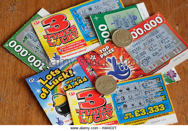 Scratch cards printed in color