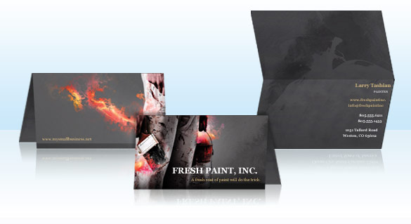 Folded Biz Cards Designs & Printings, business content standard, wallet-friendly size | Print24sa